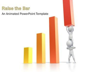 Teamwork Raise Bar Graph - A PowerPoint Template from ...