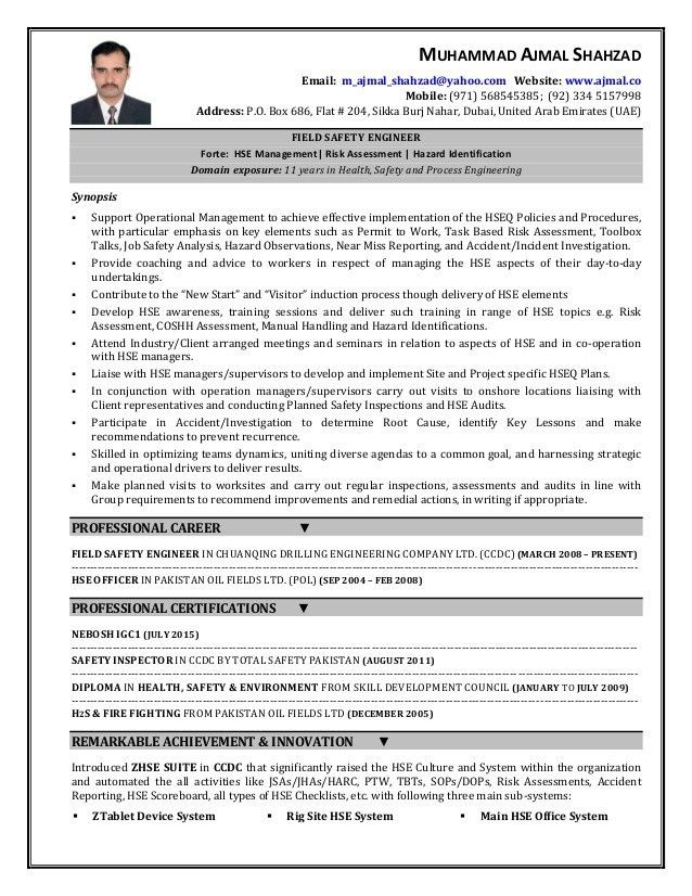 Download Fire Safety Engineer Sample Resume | haadyaooverbayresort.com