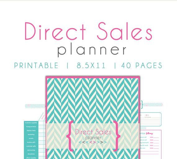 Direct Sales Planner Business planner home business planner