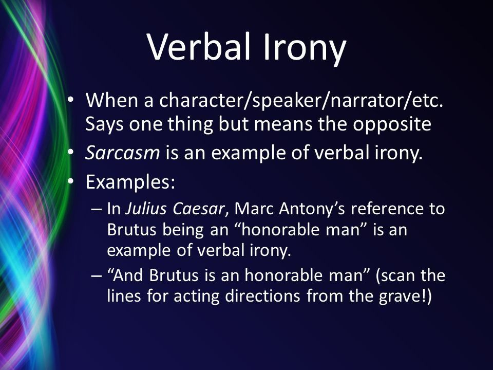 Irony. - ppt download