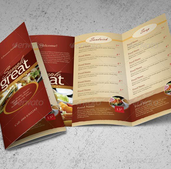 40 Beautiful Restaurant Menu Templates and Designs – Design Sparkle