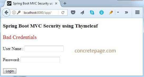 Boot MVC Security Custom Login and Logout + Thymeleaf + CSRF + ...
