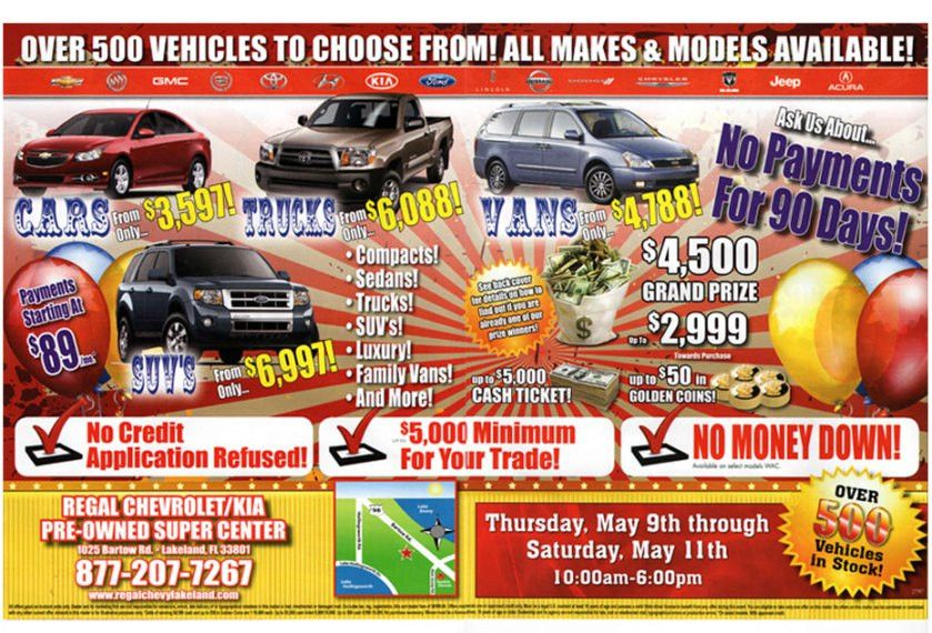 Turn That Ridiculous Weekly Car Sales Flyer Into A Clean Sponsored ...