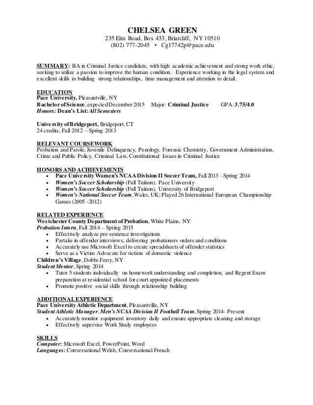 resume objective for criminal justice internship what can an. best ...