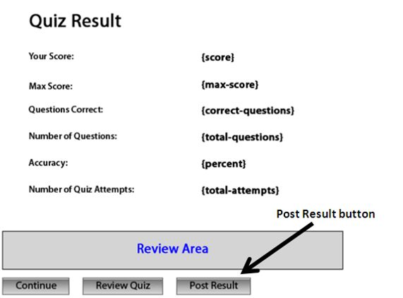 Reporting the Quiz Results to a local server | eLearning