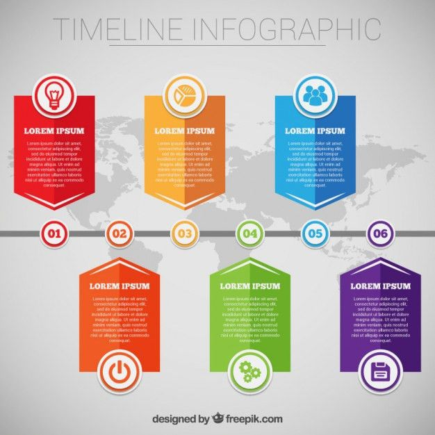 Timeline infographic template Free Vector | timeline | Pinterest ...