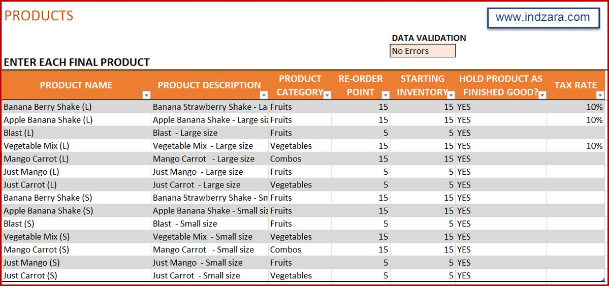 Manufacturing Inventory & Sales Manager Excel Template - BOM & Invoice