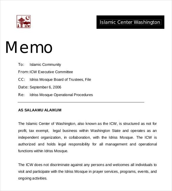 14+ Professional Memo Templates – Free Sample, Example, Format ...