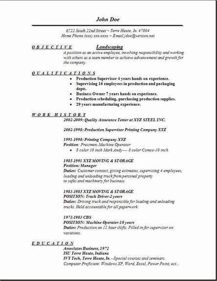 Download Landscape Resume | haadyaooverbayresort.com