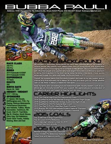 Motocross Sponsorship Resume Sample, Sponsorship Resume Samples ...