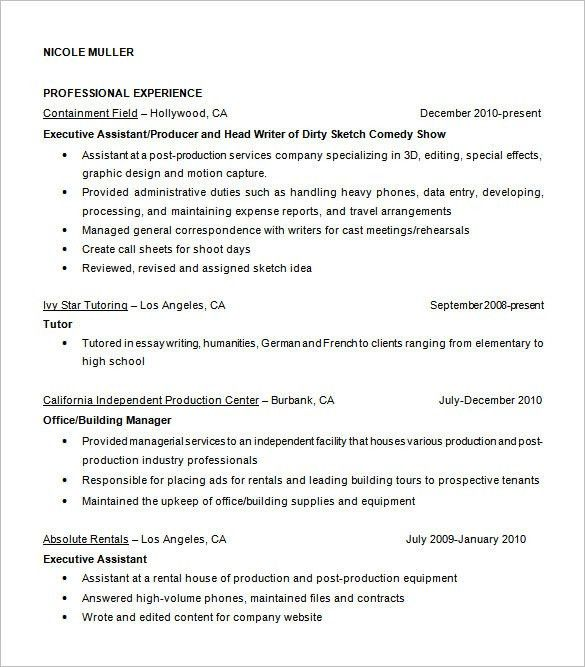 Fashion Designer Resume Template – 9+ Free Samples, Examples ...