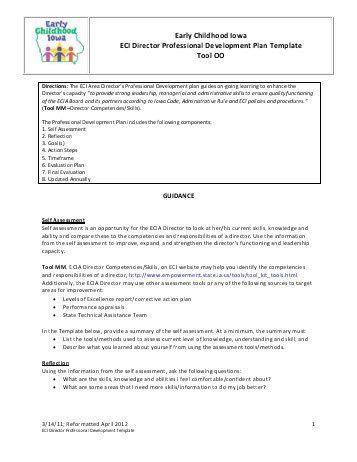 Tool PP – ECIA Board Professional Development Plan Template