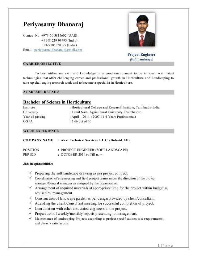 CV - Periyasamy Dhanaraj B Sc - Horticulture Project Engineer (Soft …
