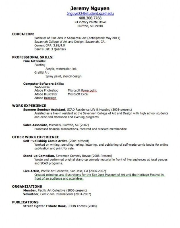 Fresh Out Of High School Resume | Samples Of Resumes