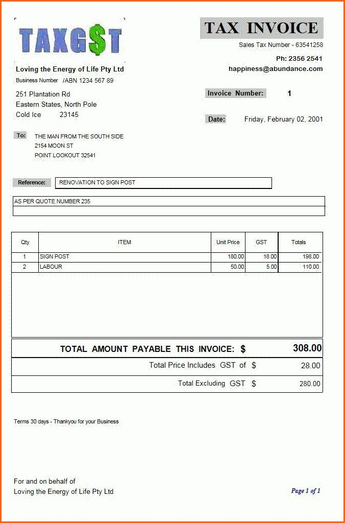 6+ business invoice forms - Budget Template Letter