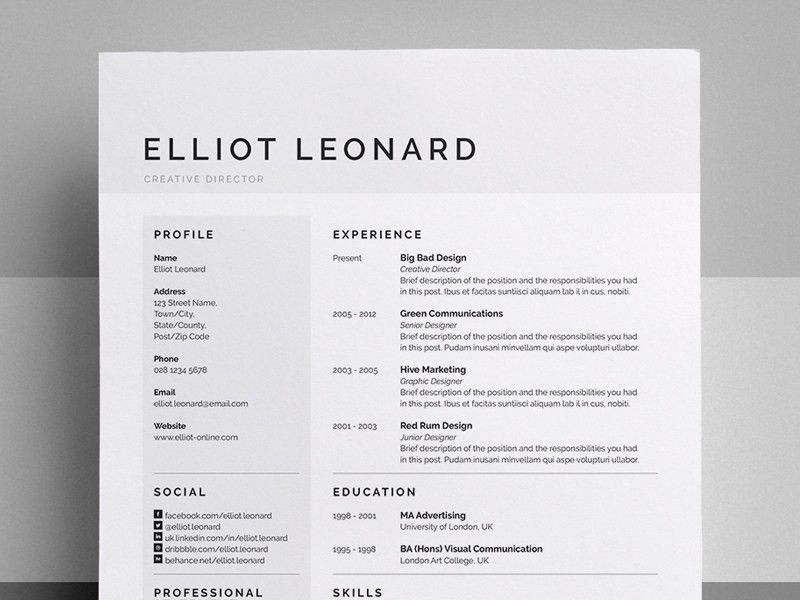 Don't know why but these clean resumes with super simple color ...