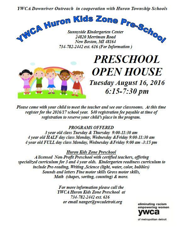 YWCA Huron Kids Zone hosting preschool open house in August | The ...