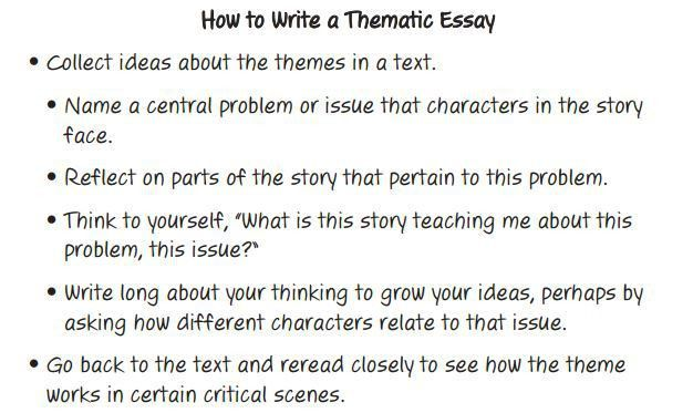 theme analysis essay theme analysis essay example. writing a ...