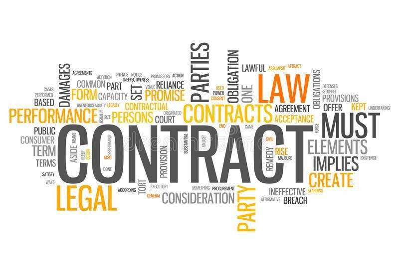 Word Cloud Contract Royalty Free Stock Photography - Image: 36641677