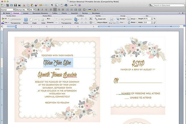 Free Delicate Floral Wedding Invitation Suite | The Budget Savvy Bride