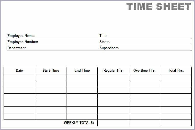 Printable Time Cards.printable Blank PDF Time Card Time Sheets.jpg ...