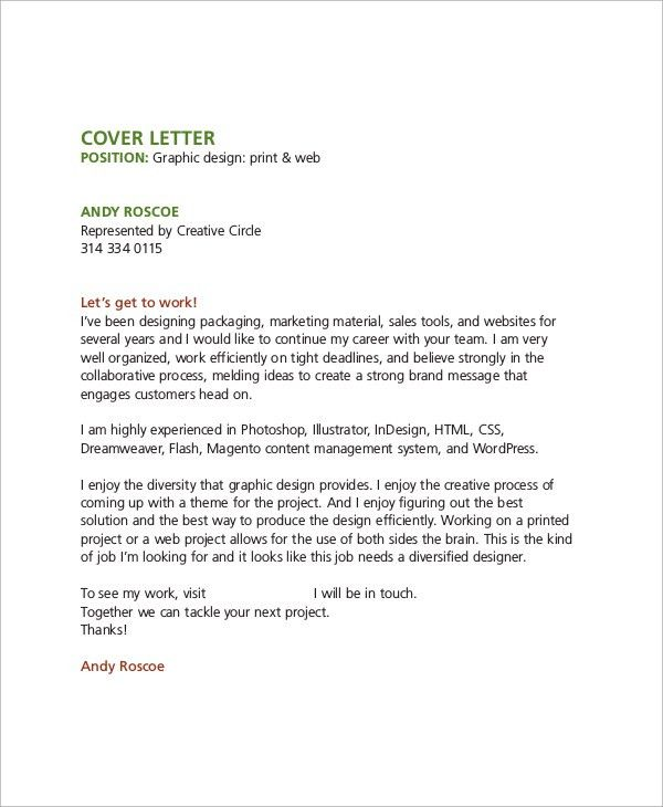 choose. design job cover letter. sample creative cover letter ...