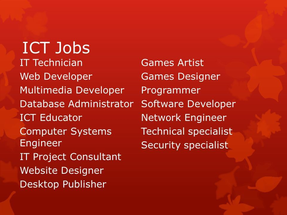 Information and communication technology (ICT) careers  What are ...