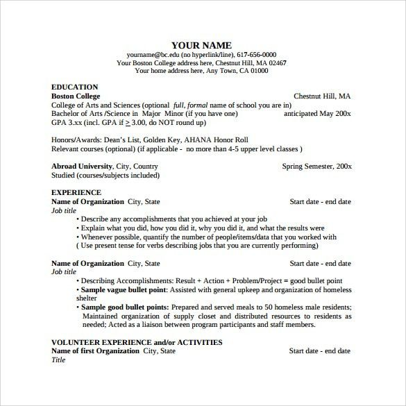 Sample College Resumes. Example Of High School Student Resume High ...