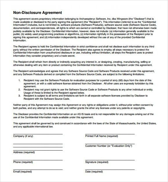 7 Free Non-Disclosure Agreement Templates - Excel PDF Formats
