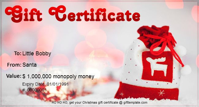 Gift Certificate Templates | Free gift certificate template for ...