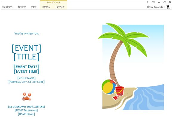 How to Make Summer Party Invitations in Word