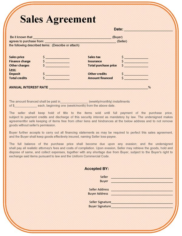 Agreement Template