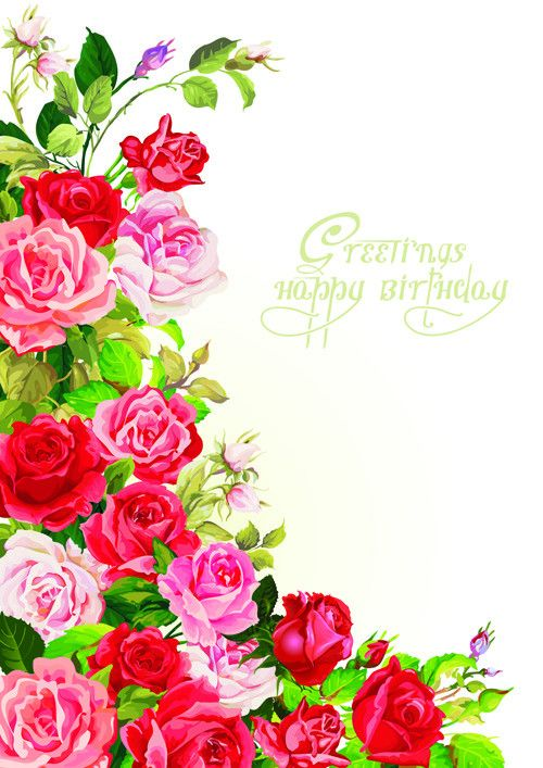 Card Invitation Design Ideas: Vintage Flowers Birthday Card By ...