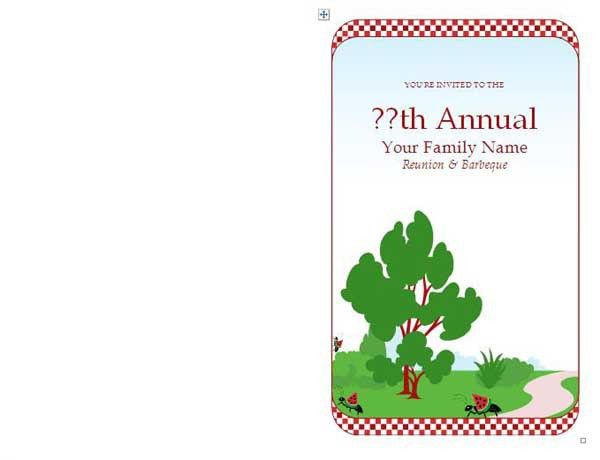 Family Reunion Invitations - Microsoft Word Templates