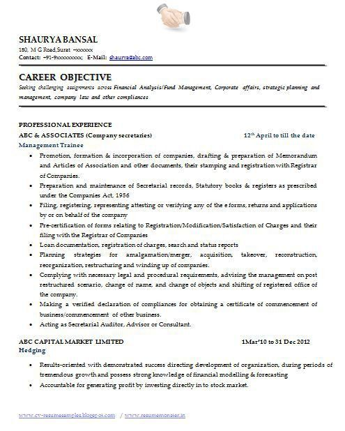 samples of objectives for resume secretary objective for resume ...