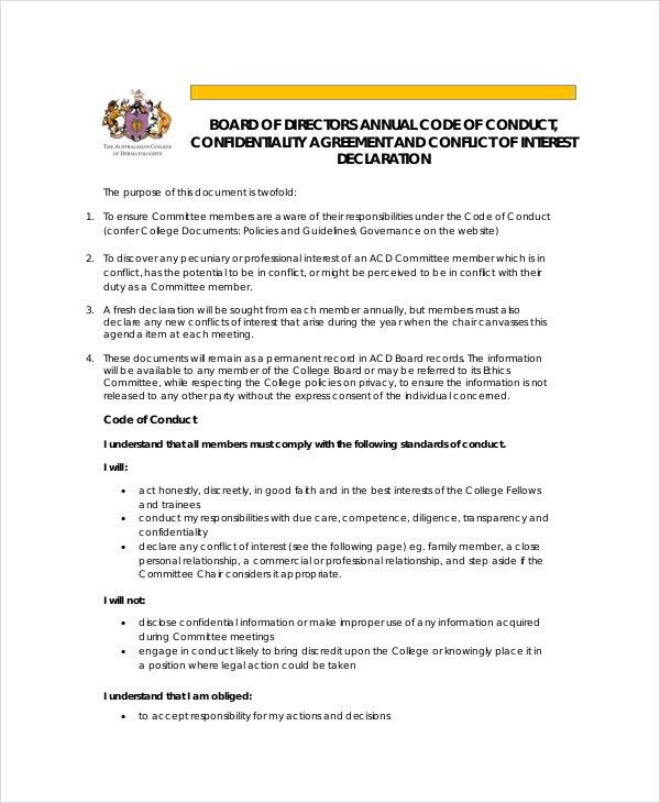 Confidentiality Agreement Template - 12+ Free PDF, Word Download ...