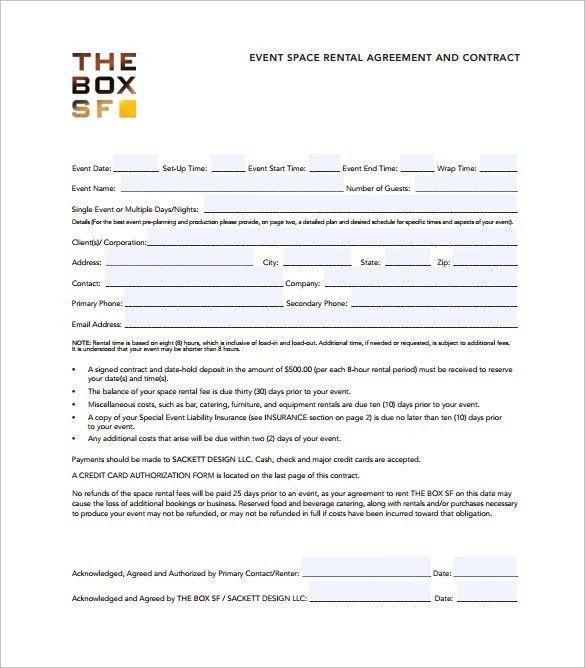 Sample Event Planner Contract Template | Create professional ...