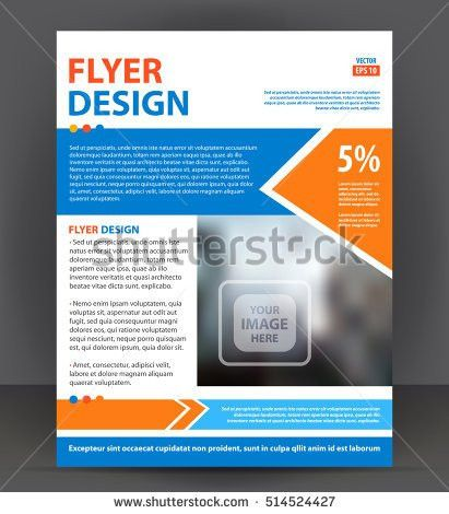 Abstract Flyer Brochure Cover Layout Design Stock Vector 514524427 ...