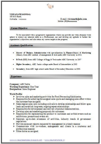 Mba Finance Resume Sample | Experience Resumes