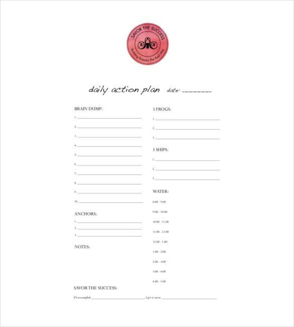 Daily Planner Template - 26+ Free Word, Excel, PDF Document | Free ...