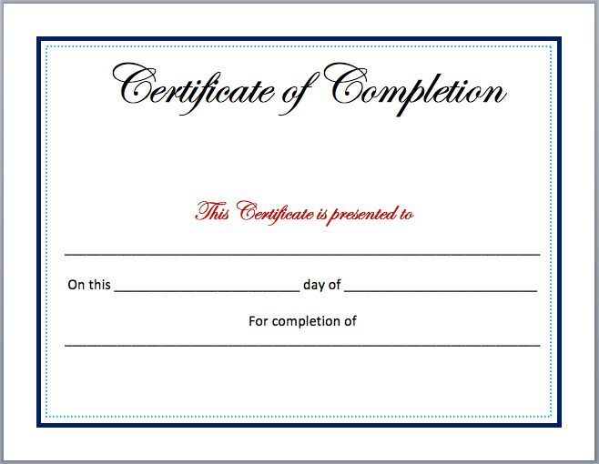 Free Certificates | Microsoft Word Templates