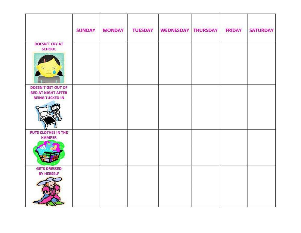 behavior chart | Loving Printable