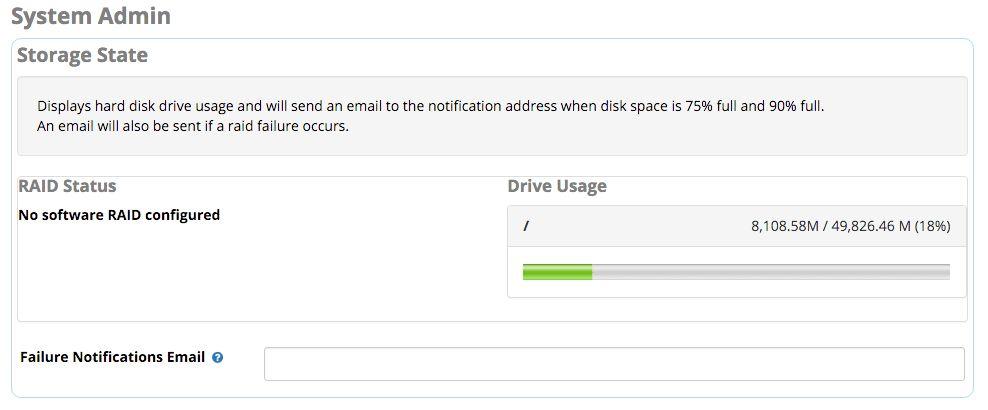 System Admin - Storage - PBX GUI - Documentation