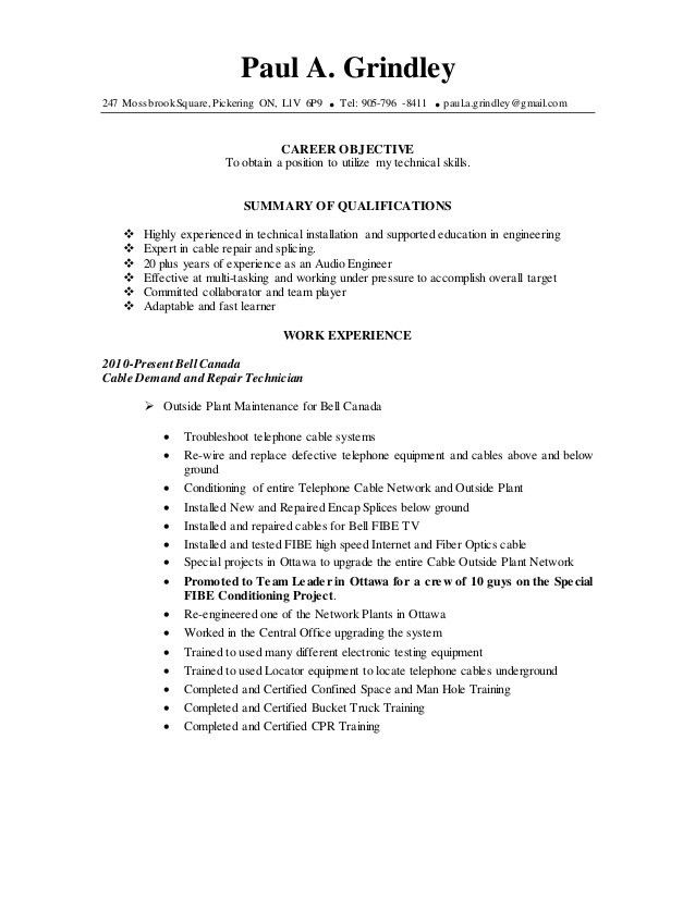 Paul Grindley Electronic Engineering Resume July 2016