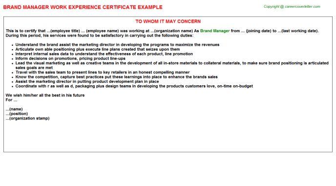 100+ Brand Ambassador Job Description For Resume | Index Of ...