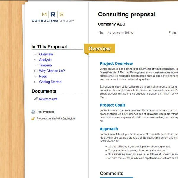 Quotegine - Online Quoting System for Business Proposal Creation