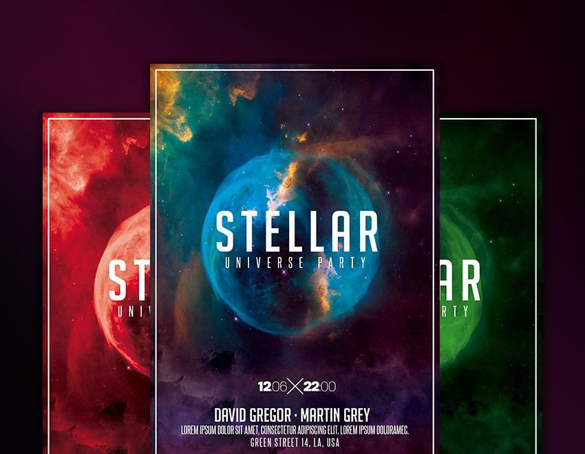 Nightclub Space Flyer Template - Download Graphicfy Flyers