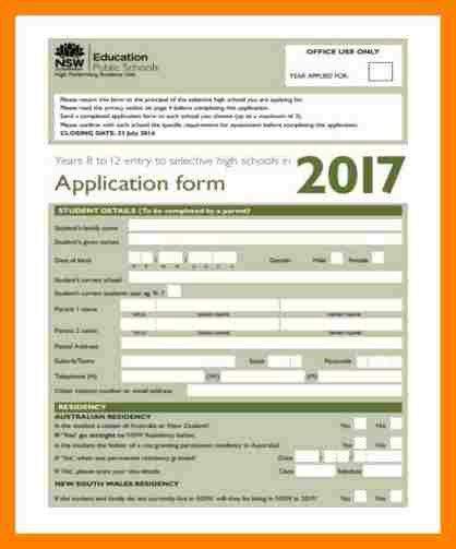 7+ school admission forms sample | packaging clerks
