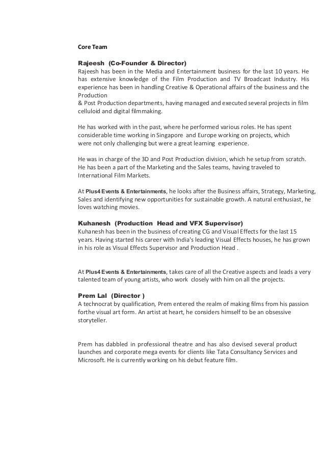 Company Profile sample Plus 4