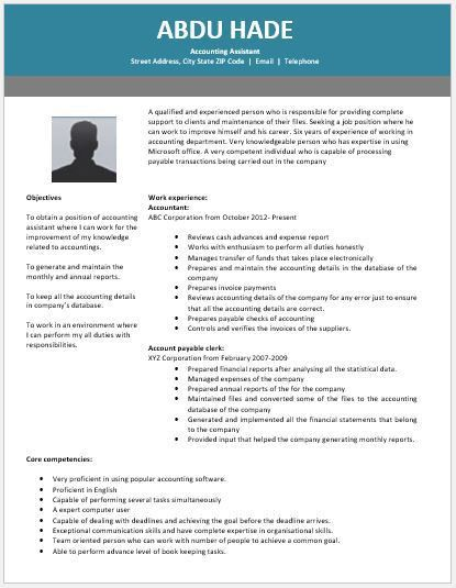 Accounting Assistant Resume Contents, Layouts & Templates | Resume ...